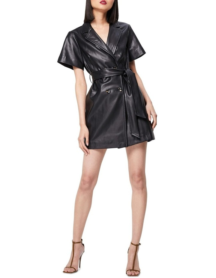 The Never Too Much Faux Leather Mini Dress Black image 1