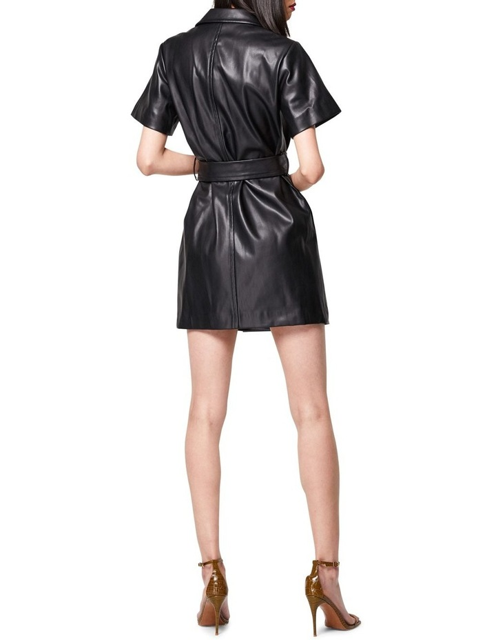The Never Too Much Faux Leather Mini Dress Black image 2