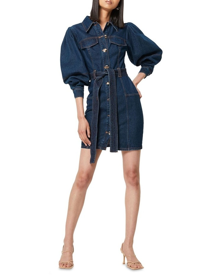 The After Dark Mini Dress Denim image 2