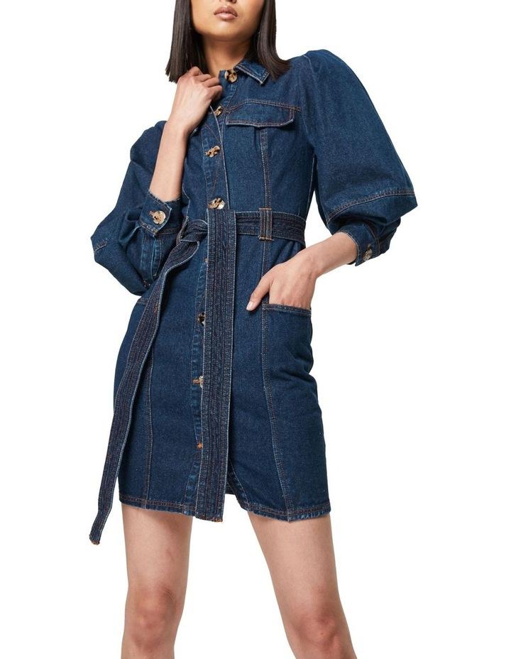 The After Dark Mini Dress Denim image 4