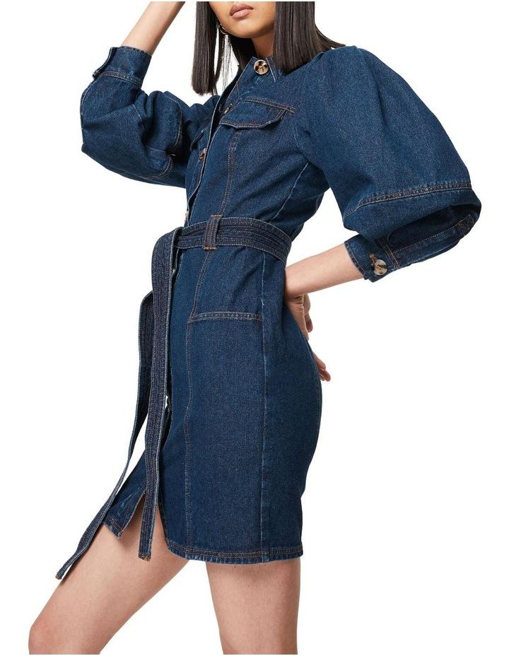 The After Dark Mini Dress Denim image 5