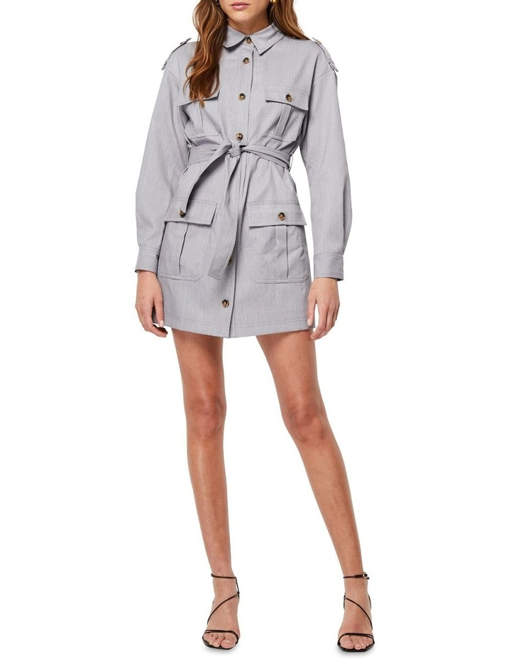 The Empower Me Grey Long Sleeve Dress image 1