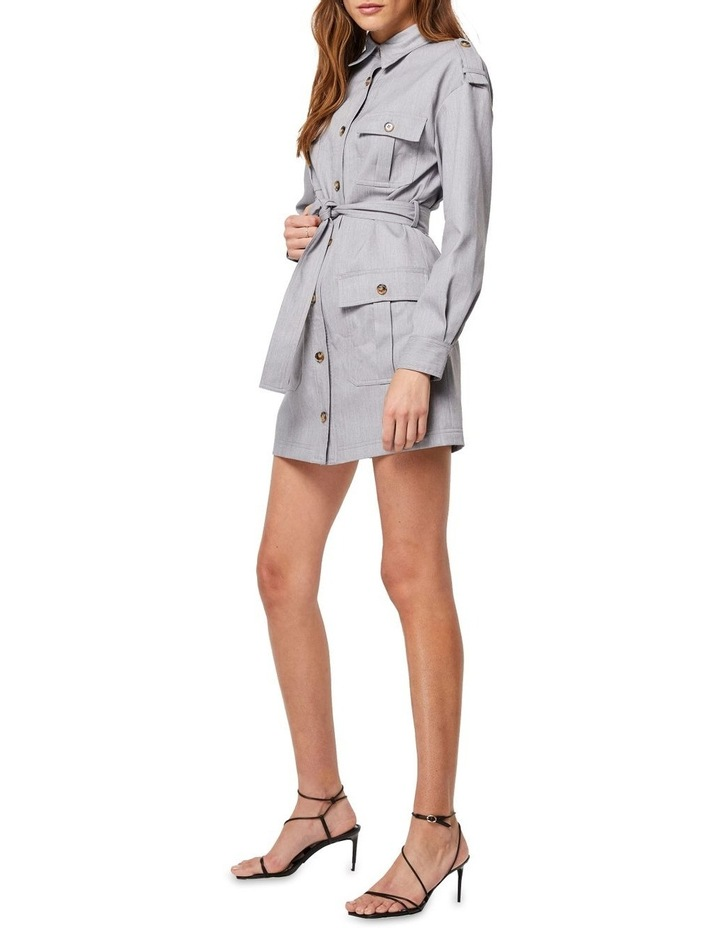 The Empower Me Grey Long Sleeve Dress image 3