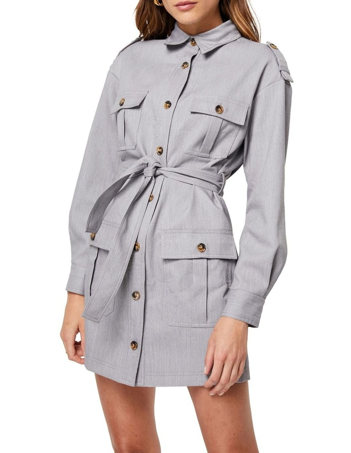 The Empower Me Grey Long Sleeve Dress image 4