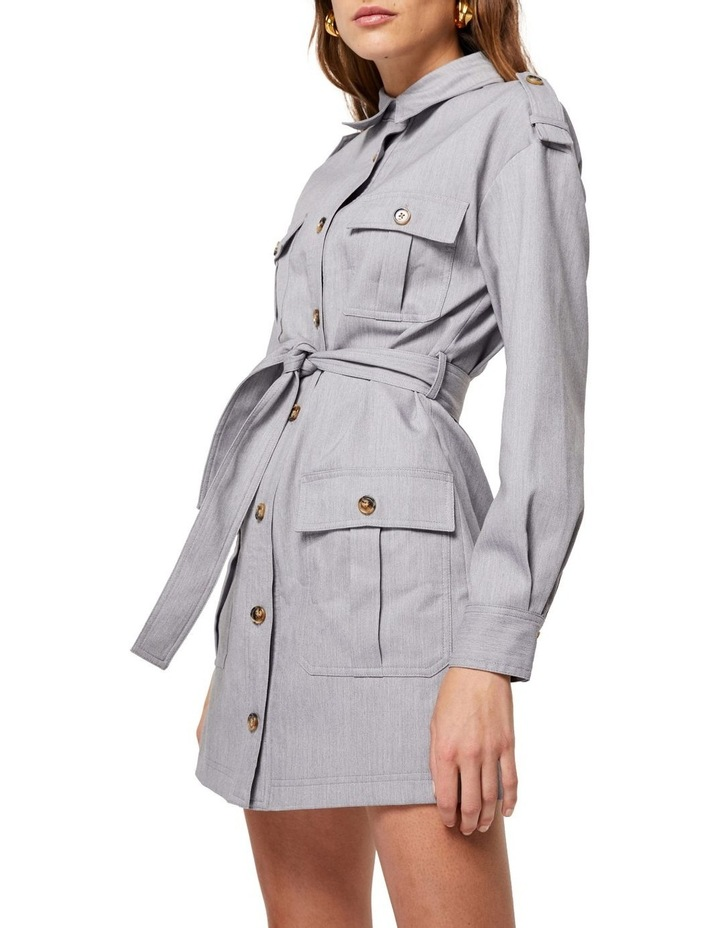 The Empower Me Grey Long Sleeve Dress image 5
