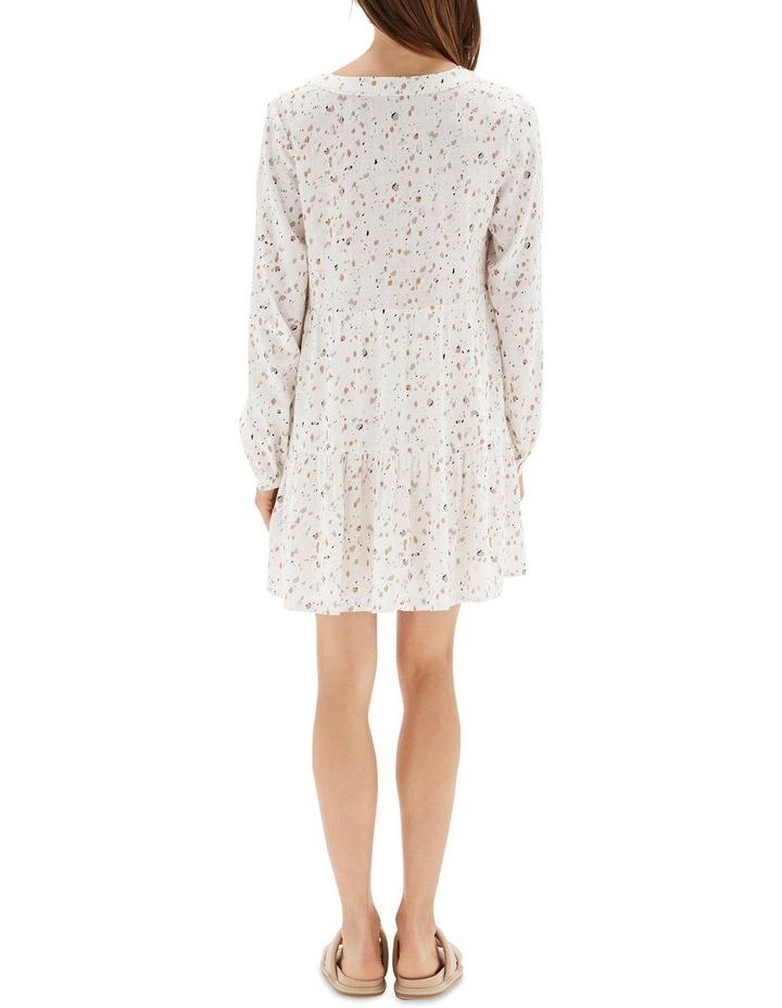 Terrazzo Long Sleeve Mini Dress White image 2