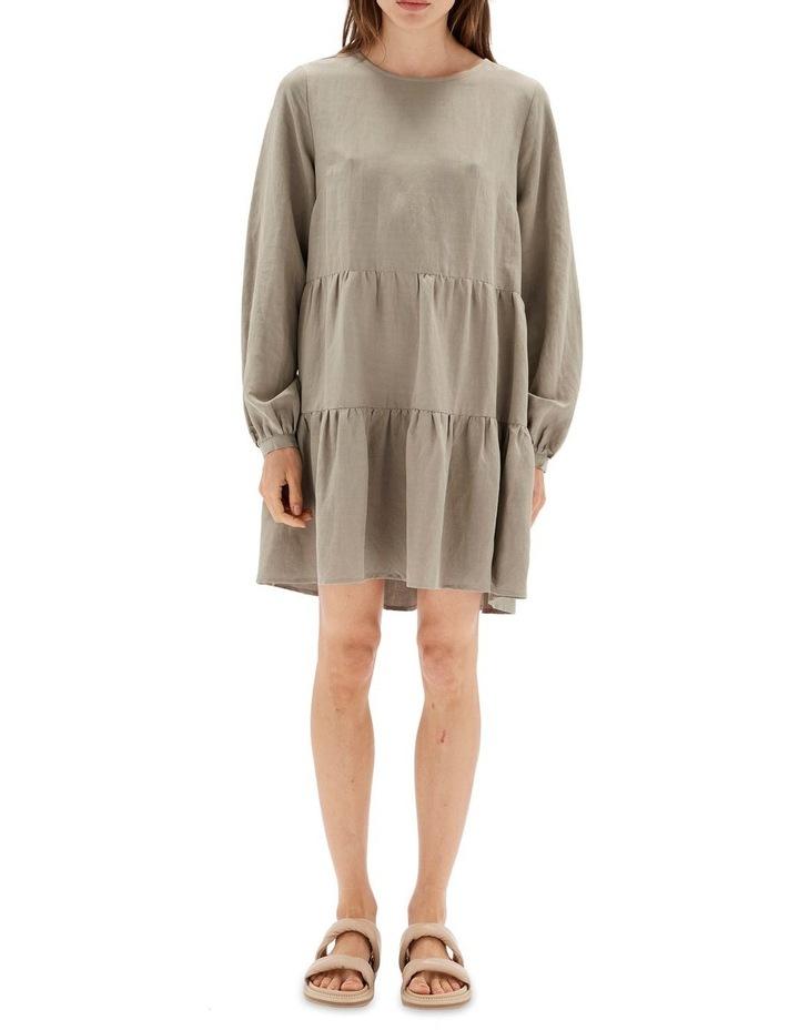 Thalia Tiered Mini Dress Sage image 1