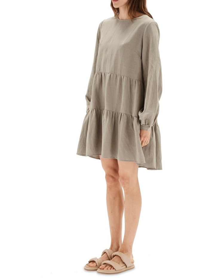 Thalia Tiered Mini Dress Sage image 2