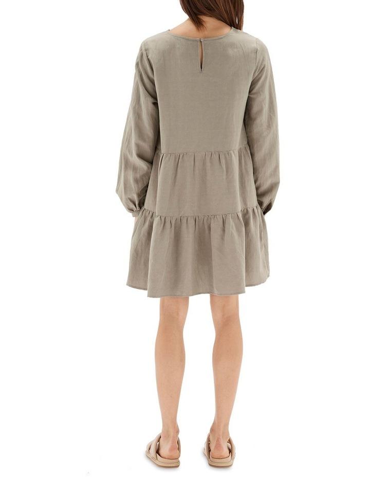Thalia Tiered Mini Dress Sage image 3