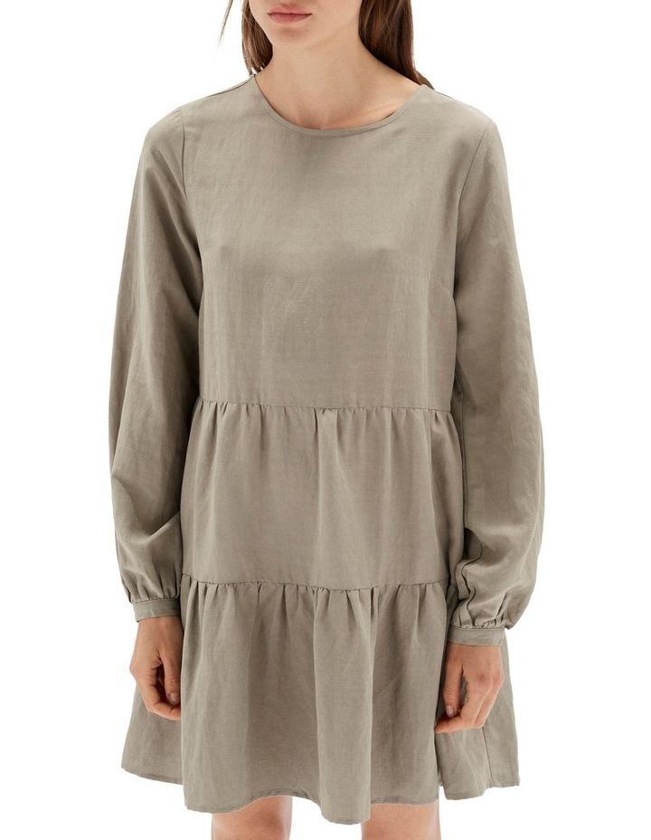 Thalia Tiered Mini Dress Sage image 4