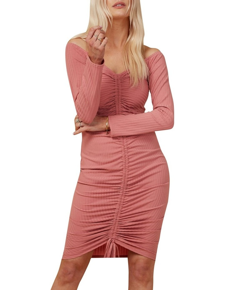 Rouched Knit Dress image 1