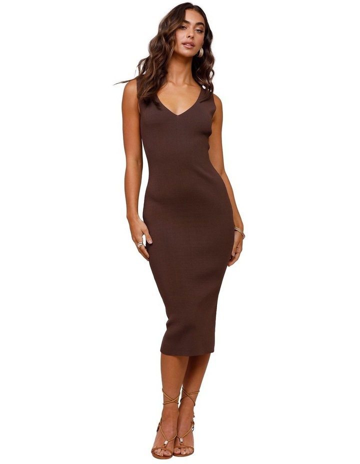 Rustic Knit Midi Dress image 1