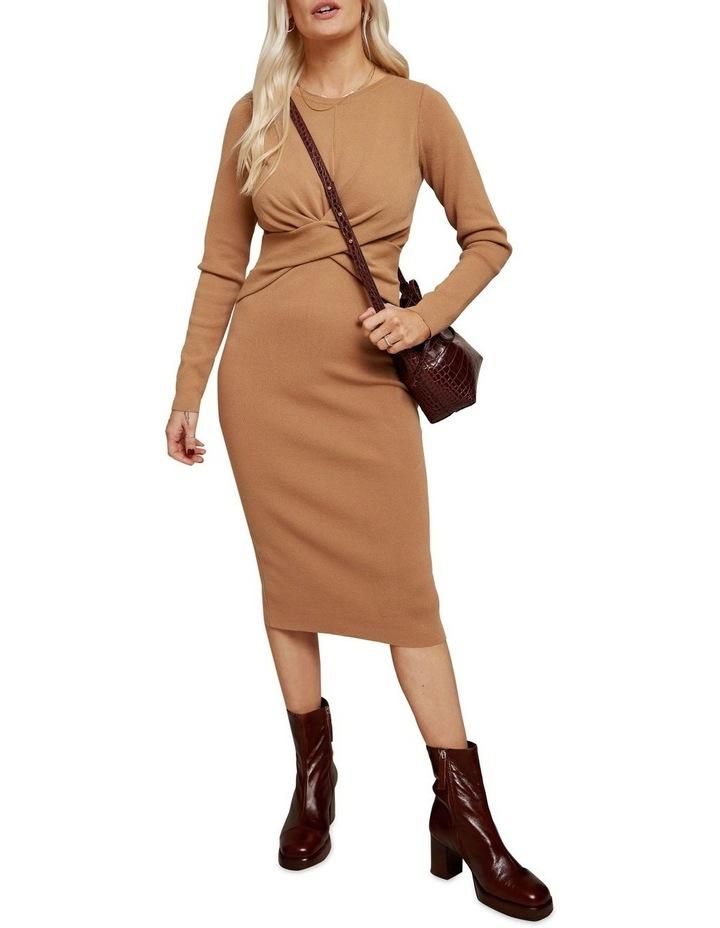 Long Sleeve Midi Twist Dress image 1