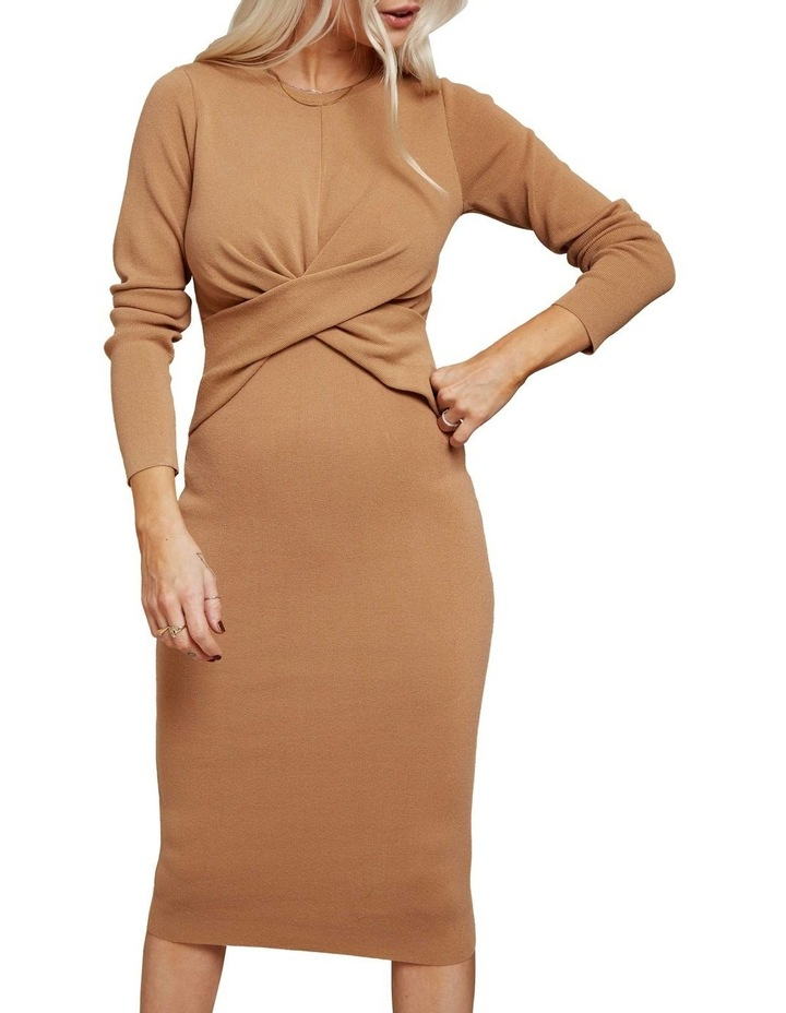 Long Sleeve Midi Twist Dress image 2