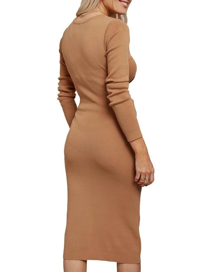 Long Sleeve Midi Twist Dress image 4