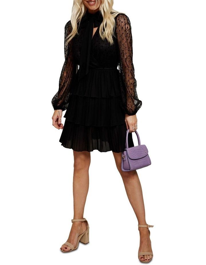Lace Sleeved Mini Dress image 1