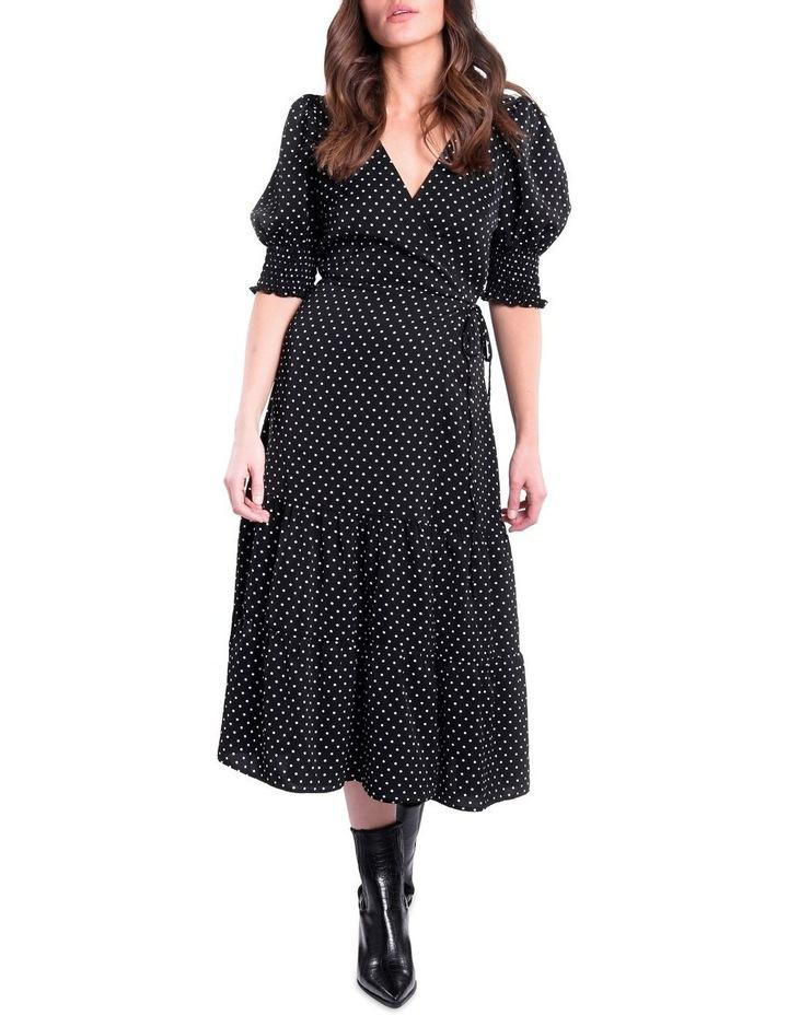 Black And White Polka Dot Dress image 1