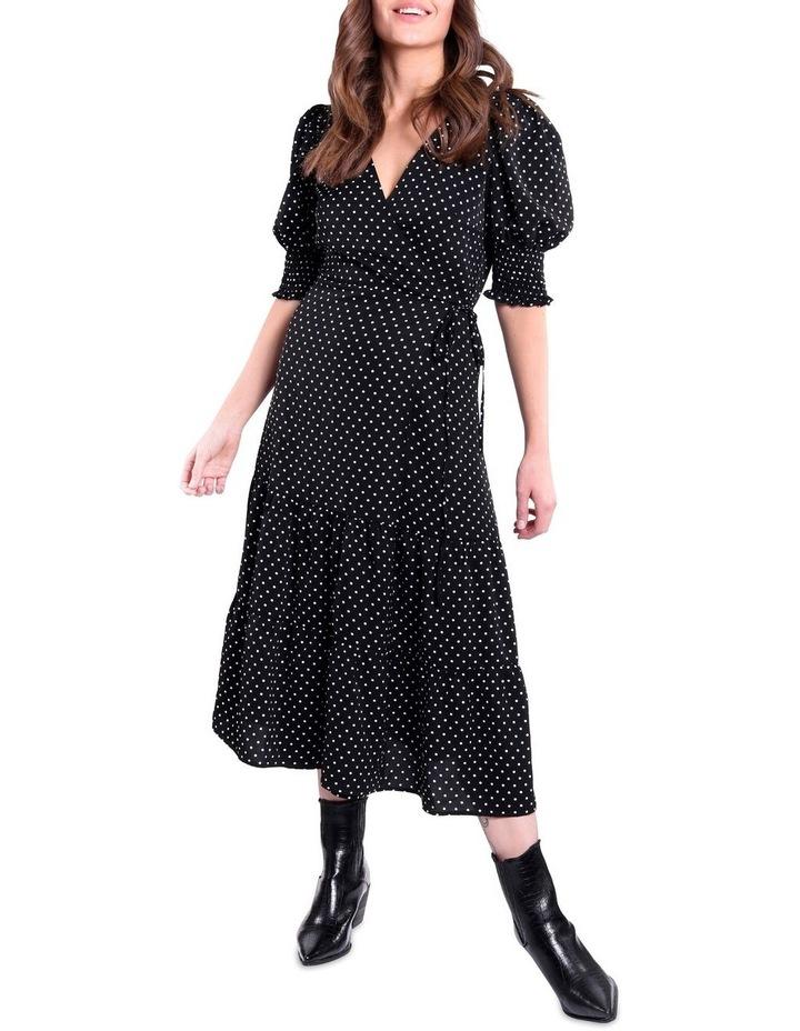 Black And White Polka Dot Dress image 2
