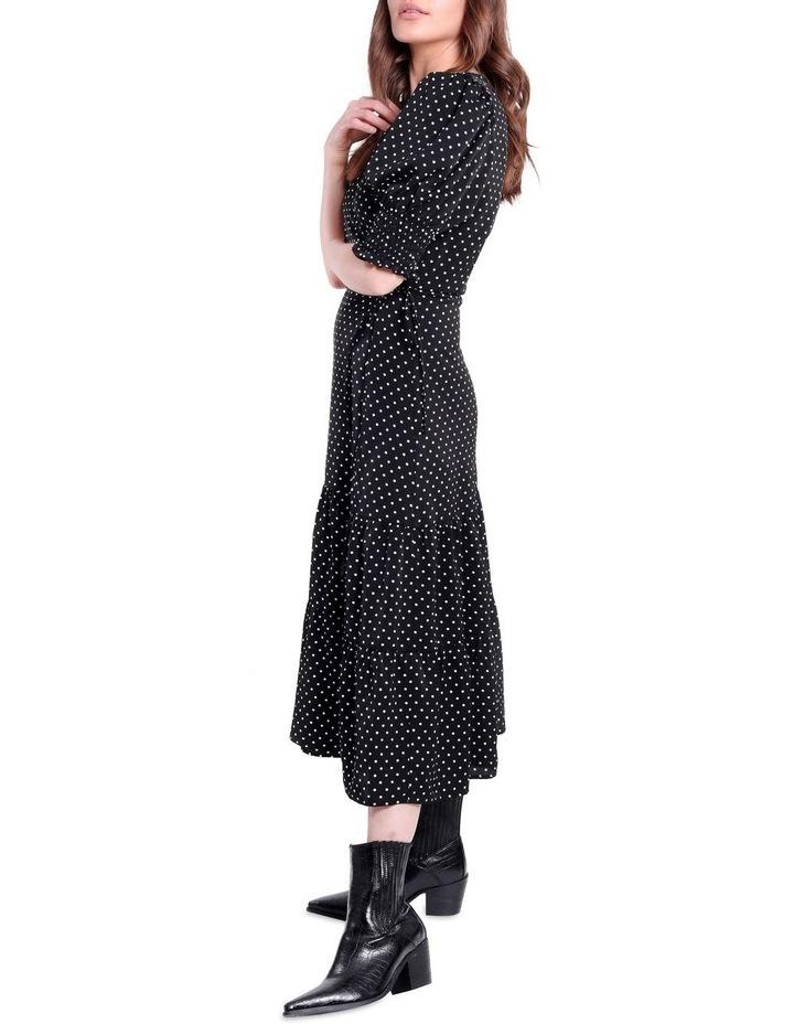 Black And White Polka Dot Dress image 3