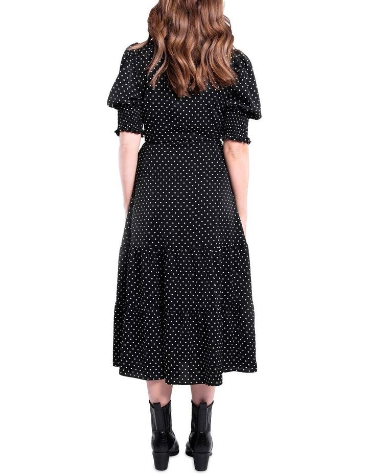 Black And White Polka Dot Dress image 4