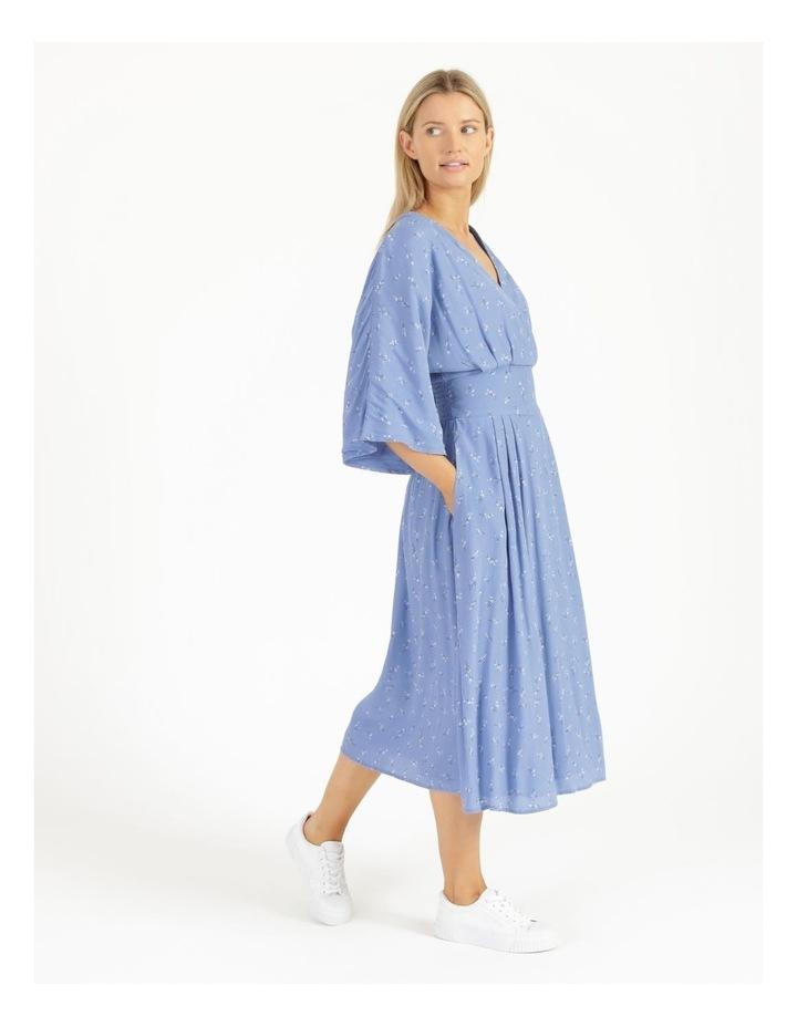 Esla Printed Silver Lake Blue Midi Dress image 3