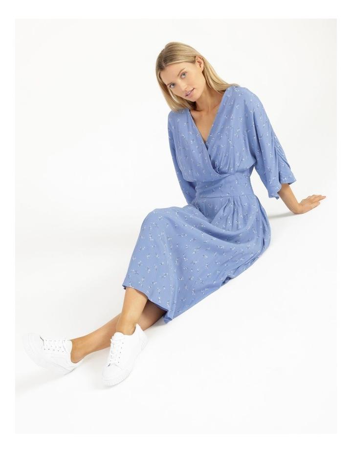 Esla Printed Silver Lake Blue Midi Dress image 4