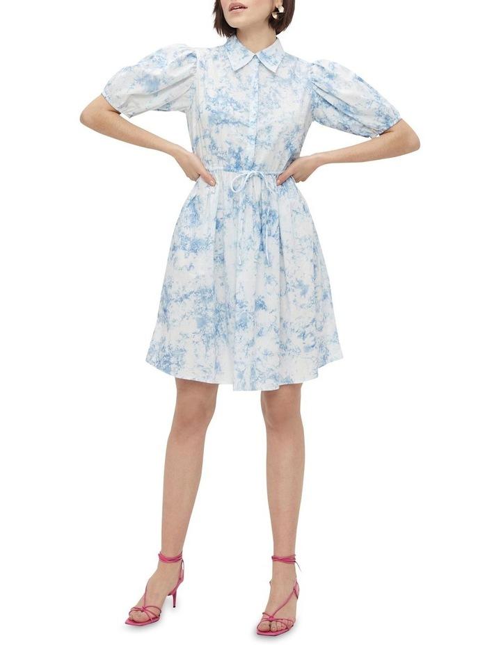 Ocean Cotton Mini Dress Whispy Blue image 1
