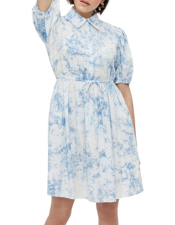 Ocean Cotton Mini Dress Whispy Blue image 3