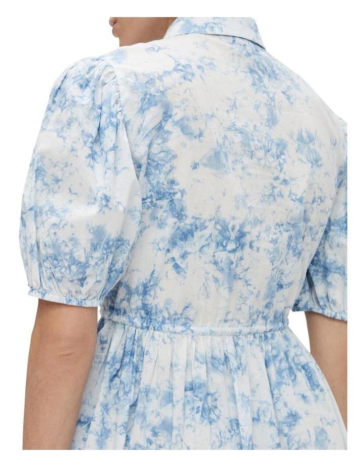 Ocean Cotton Mini Dress Whispy Blue image 5