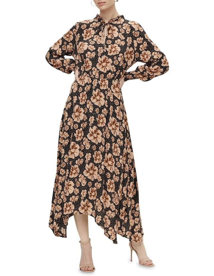 Asymmetrical Maxi Dress Black/Isla image 1