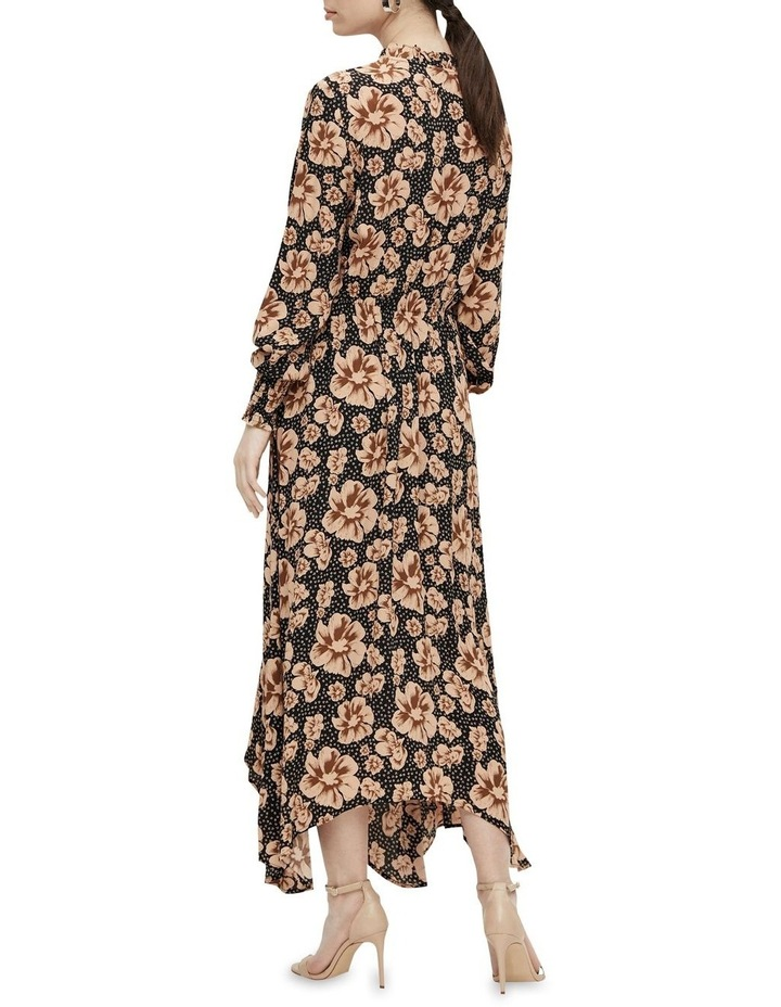 Asymmetrical Maxi Dress Black/Isla image 2
