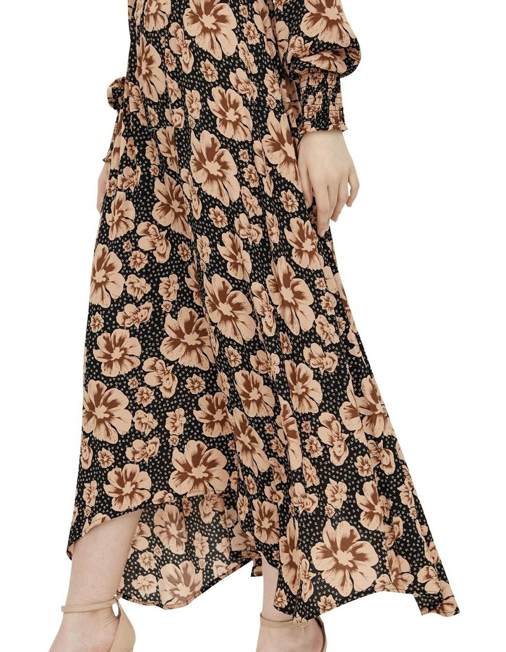 Asymmetrical Maxi Dress Black/Isla image 5