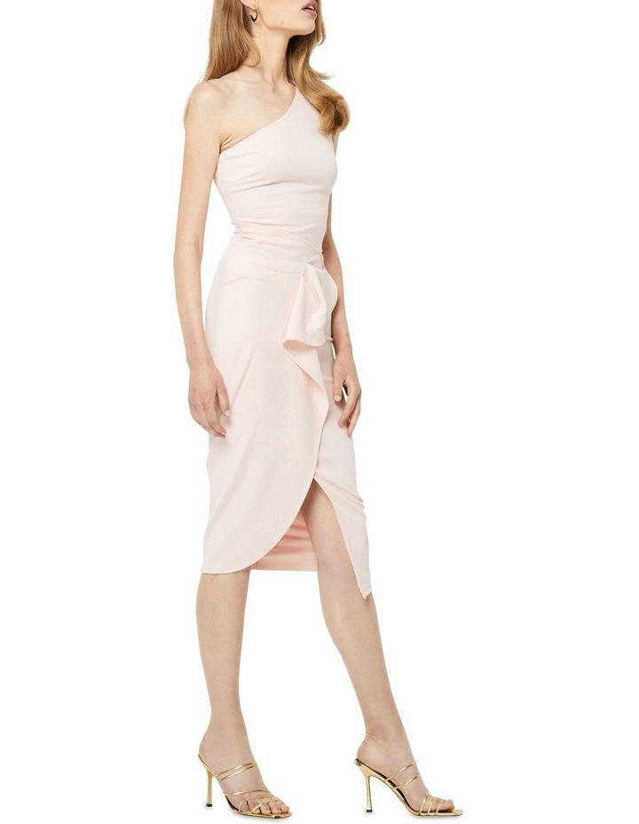 Through The Stars Midi One Shoulder Dress Blush image 3