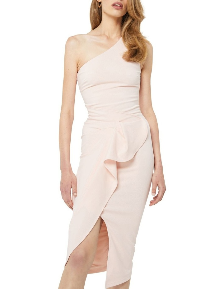 Through The Stars Midi One Shoulder Dress Blush image 5