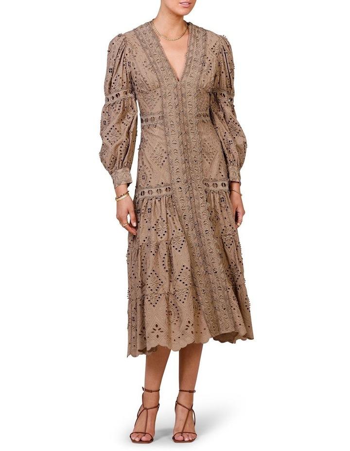 Nouveau Embroidery Maxi Dress Olive image 1
