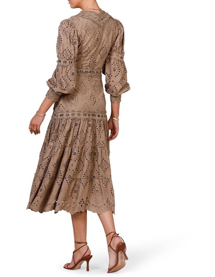 Nouveau Embroidery Maxi Dress Olive image 2
