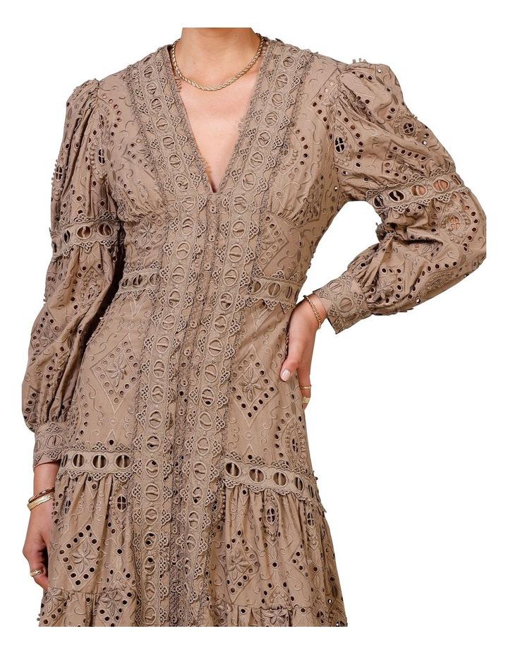Nouveau Embroidery Maxi Dress Olive image 4