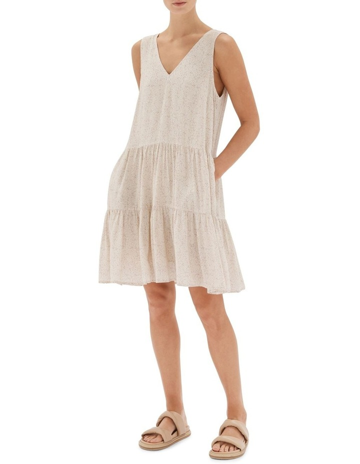 Acacia Tiered Mini Dress Nude image 1