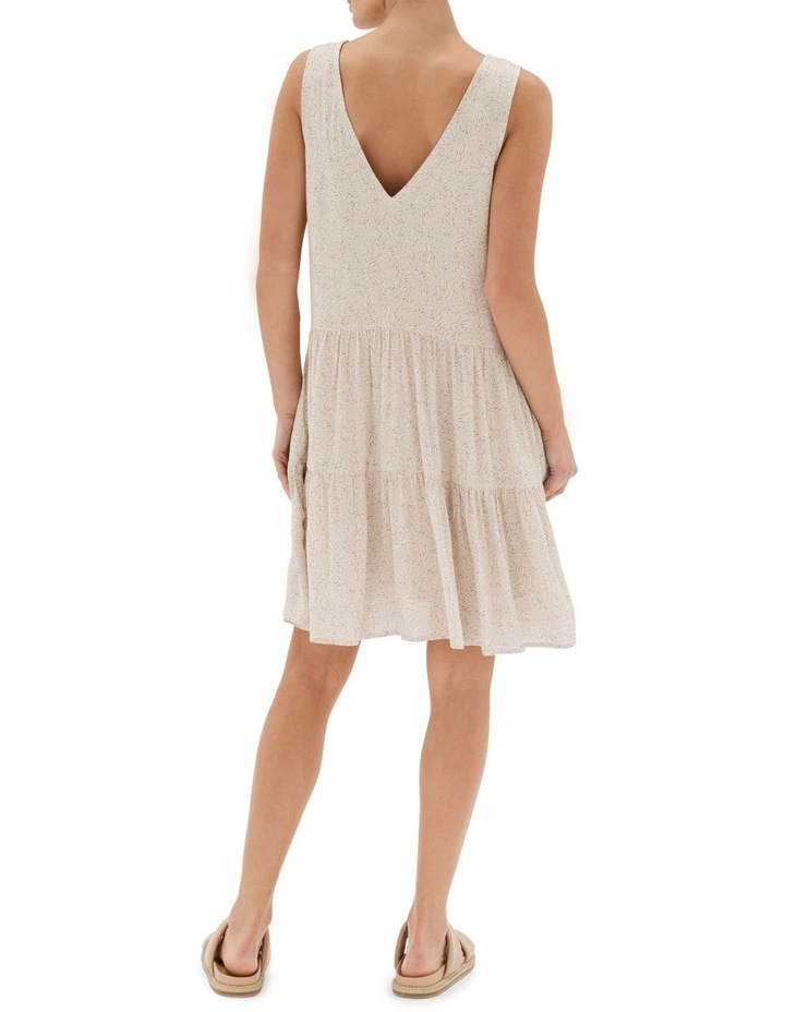 Acacia Tiered Mini Dress Nude image 2