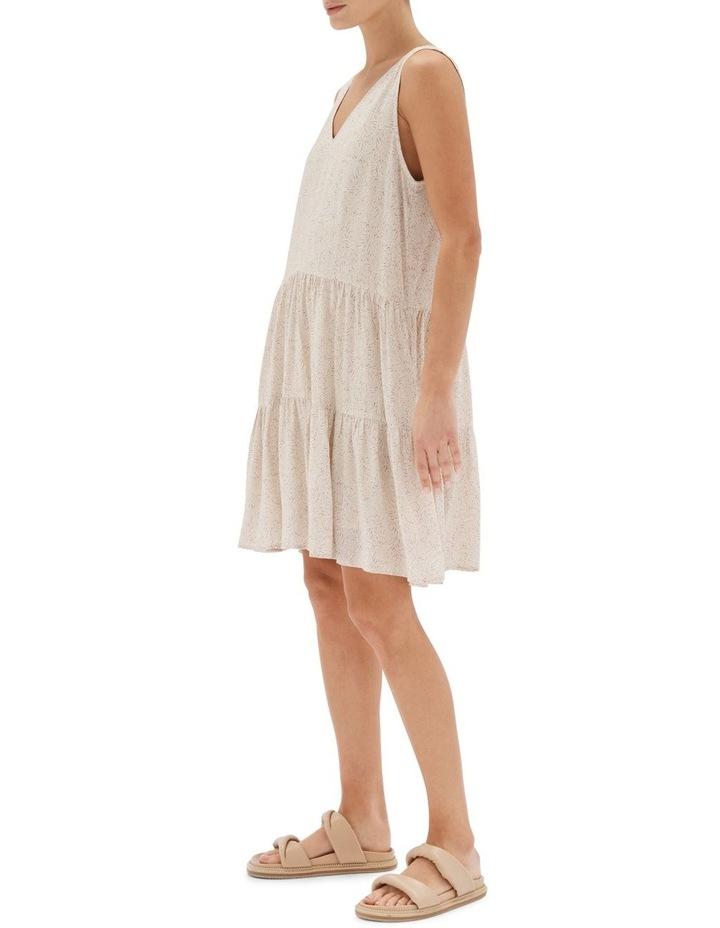 Acacia Tiered Mini Dress Nude image 3