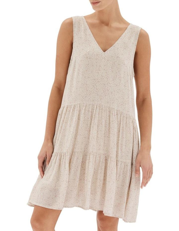 Acacia Tiered Mini Dress Nude image 4