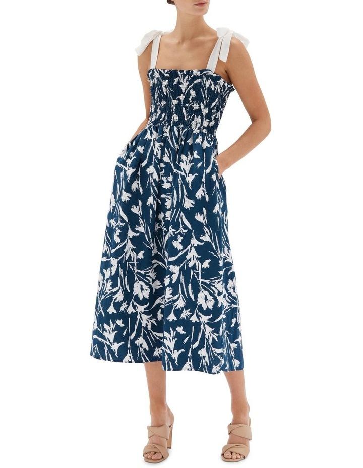 Alma Shirred Midi Dress image 1
