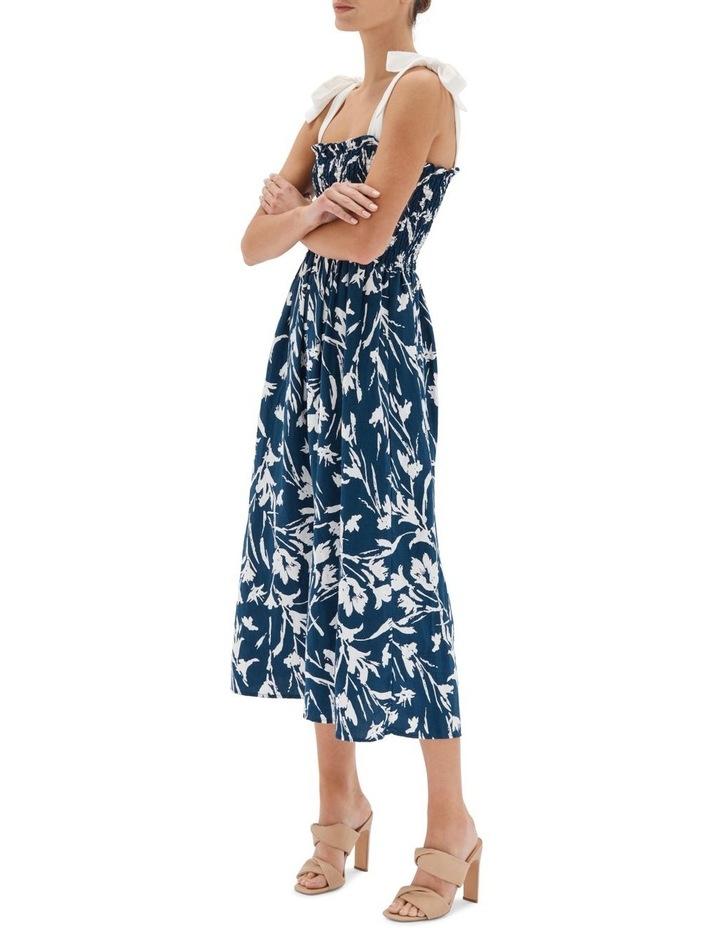 Alma Shirred Midi Dress image 3