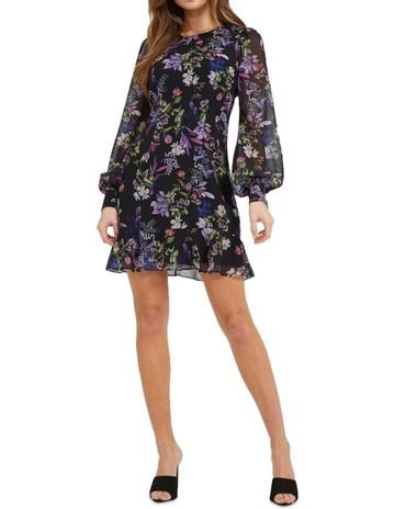 f9e02342d Cooper St Le Jardin Long Sleeve Mini Dress