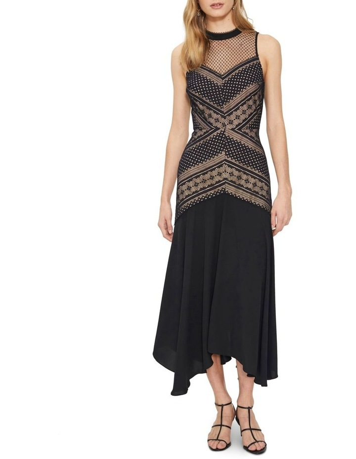 Ana Lace Contrast Midi Dress image 1