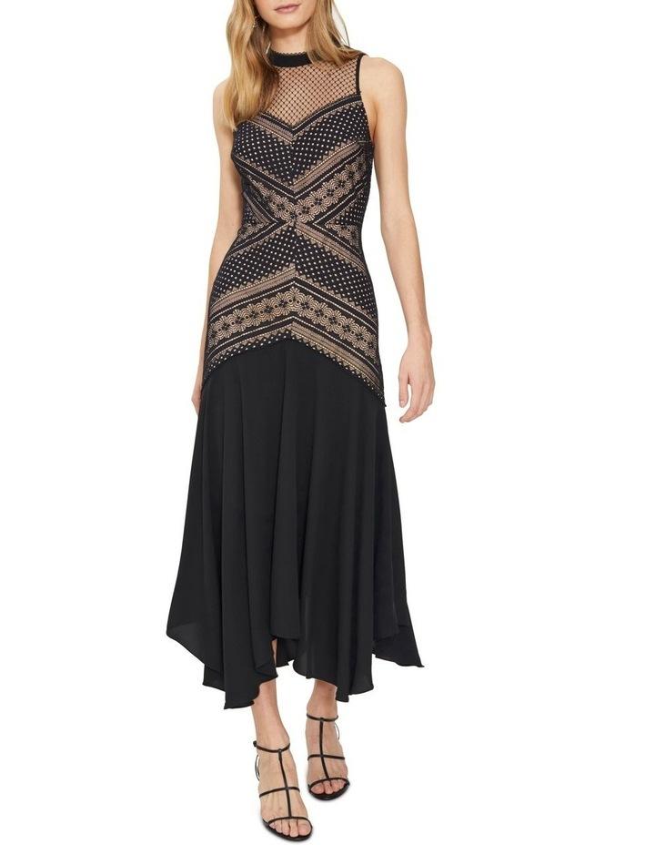 Ana Lace Contrast Midi Dress image 2