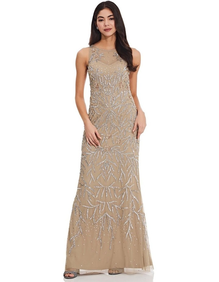 Beaded Halter Gown image 1