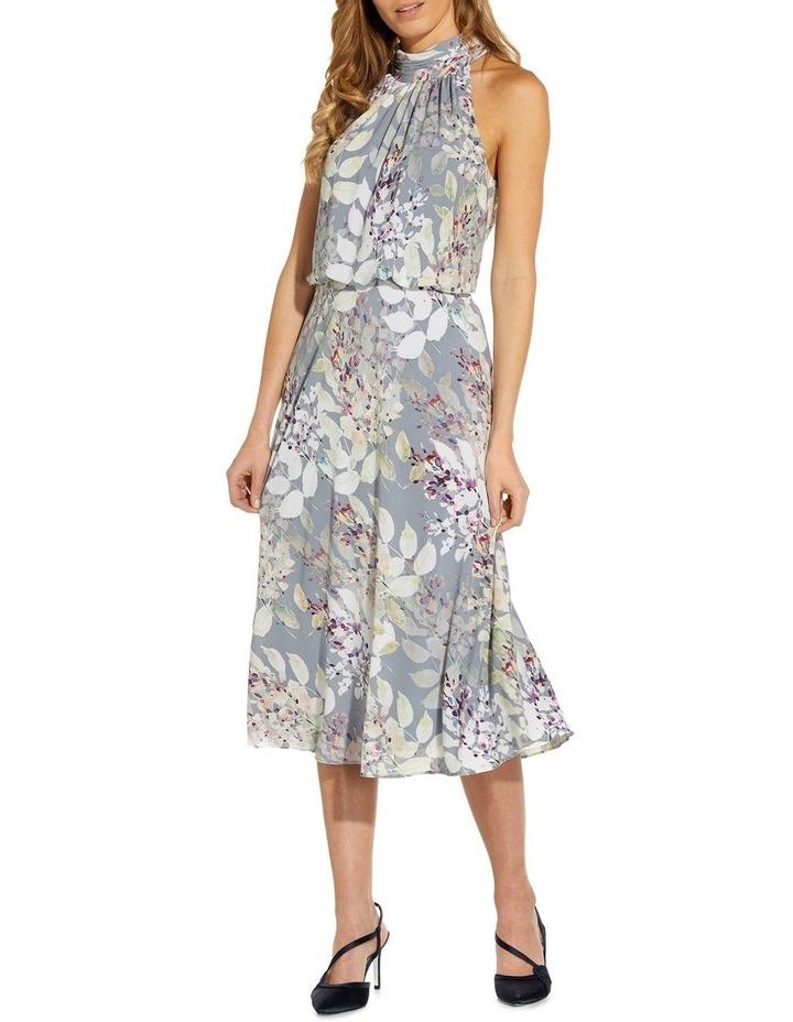 Watercolor Floral Midi Dress image 1