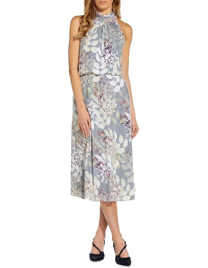 Watercolor Floral Midi Dress image 3