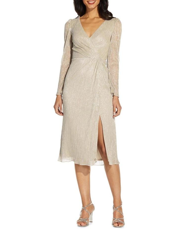 Metallic Knit Wrap Dress image 1